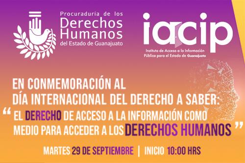 Invitación: Conmemoración del Día Internacional del Derecho a Saber